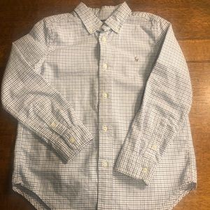Ralph Lauren Polo button up shirt.  Kids size 6.